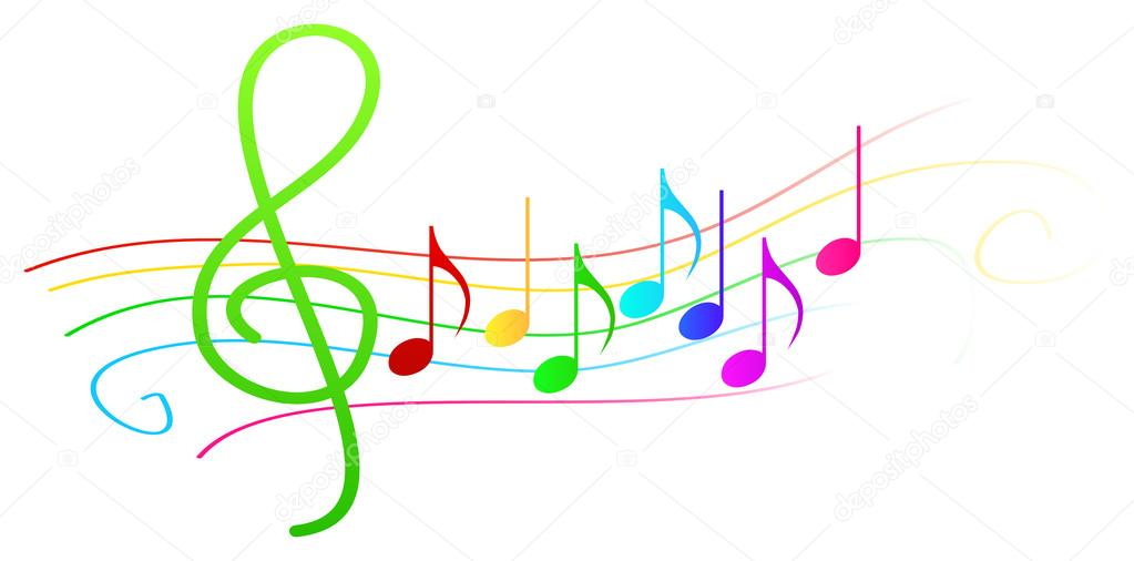 depositphotos 28984581-stock-illustration-colorful-musical-notes-on-stave